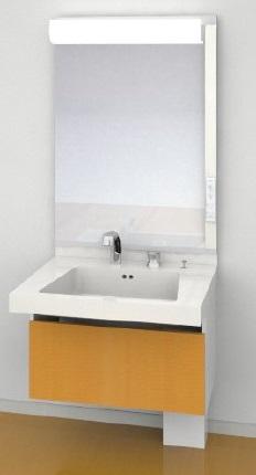 TOTO座ってラクラクシリーズ間口750ミリ価格及び画像はLDSJ75FARC 洗面化粧台(収納付き)LTL511C2U 止水栓(壁)2個LMJ750EH 一面鏡メーカー直送のため代引決済はできません