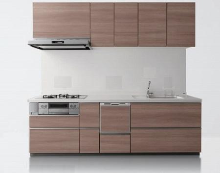 TOTOミッテシステムキッチンI型間口:2550ミリ扉:プライスグループ3扉カラー:ロブルグレーウッド材のみ価格メーカー直送