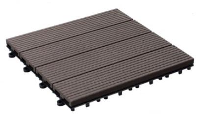ユニソンクオリティフロアタイルウッドカラー:ウッドダークブラウン販売単:1箱(10枚)使用枚数(1平米当り):11.1サイズ:295L×295W×26H重量:3.81キロ/箱