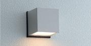 ユニソンエコルトウォールライトEA01017材質:アルミダイカスト、アクリルサイズ:幅82×高さ82×奥行82ミリ重量:0.6キロ