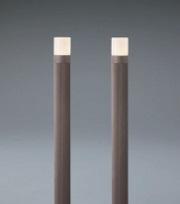 ユニソンエコルトポールライト2本セット EB11013052サイズ:φ60×高さ650(950)ミリ重量:0.9kg