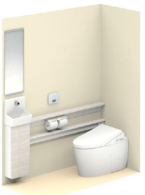 TOTO【UWLHAASA2NBN2AJJ】ネオレストワンデーリモデルネオレスト手洗器付Sサイズカウンタータイプ給排水タイプ壁排水後ろ抜きリモデル用(120-155ミリ)メーカー直送材のみ