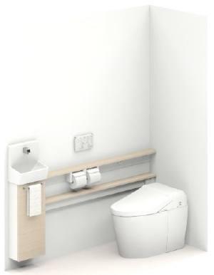 TOTOUWLMHASA32BNNAHH ネオレスト給排水タイプ壁排水左抜きリモデル用(100-155mミリ)手洗器付Sサイズカウンタータイプメーカー直送材のみ