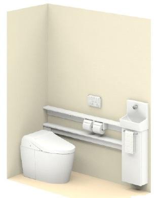 TOTO【UWLLUASS32ANNAWW】ネオレストワンデーリモデルネオレスト手洗器付Sサイズカウンタータイプメーカー直送材のみ