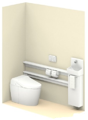 TOTO【UWLLBASS32ANNAWW】ネオレストワンデーリモデルネオレスト手洗器付Sサイズカウンタータイプメーカー直送材のみ