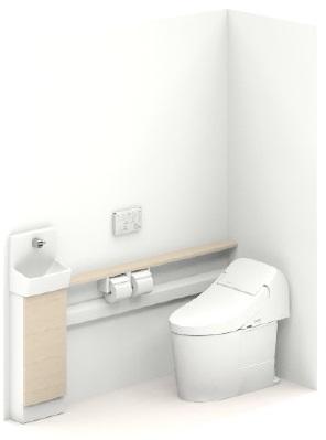 TOTOUWD5SA3LH手洗器付 カウンタータイプ大便器機種GG2大便器排水タイプ床排水(排水心200mm)手洗器タイプカウンタータイプ(フリーカット対応)扉・カウンターカラーライトウッドNメーカー直送