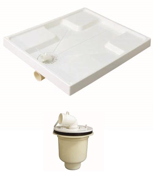 ミヤコ洗濯機パン4セット販売MB7464洗濯機パンサイズ:740×640×4+M44PTX洗濯機パン用トラップ縦引き×4数量限定プレゼント付き下記ボックスよりお選びください。