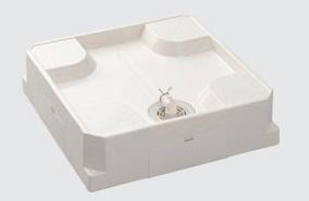 シナネンUSB-6464SNW640X640洗濯機パン床上配管タイプ横引きトラップ付