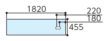 TOTOAGF611RハイドロセラフロアJ 全面セラミック床排水小便器(排水心180-220ミリ)寸法:455×1820×11付属品:・専用接着剤×1・便器取付部材(専用ドリル刃)・アルミジョイナー(L字型)×1下のボックスでカラーをお選びください