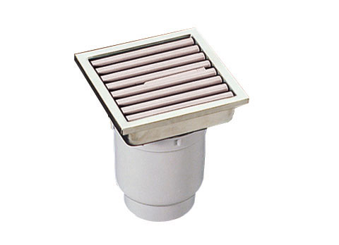 TOTOEWB620SR浴室排水ユニット(樹脂製グレーチング)非防水層タイプ(縦引きトラップ)【寸法】A:144/B:144/C:72画像はEWB620SR