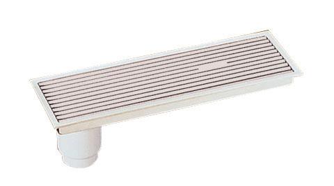 TOTOEWB631SR浴室排水ユニット(樹脂製グレーチング)非防水層タイプ(縦引きトラップ)【寸法】A:596/B:196/C:80画像はEWB631SR