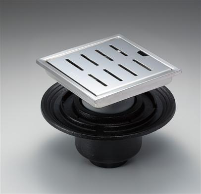 TOTOYTB800DBS浴室排水ユニット(ステンレス)防水層タイプ(縦引トラップ)【寸法】A:796/B:196/C:80/D:200-250/E:72-122画像はYTB200DBS
