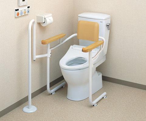 【送料無料】 TOTOトイレ用手すり 背もたれ付き・アシストバー付きEWC223