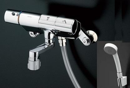 TOTOTMN40STE壁付サーモスタット混合水栓タッチスイッチタイプシャワーヘッド:エアインホース:樹脂