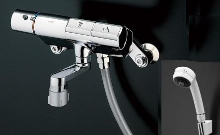 TOTOTMN40STJ壁付サーモスタット混合水栓タッチスイッチタイプシャワーヘッド:ワンダービートホース:樹脂
