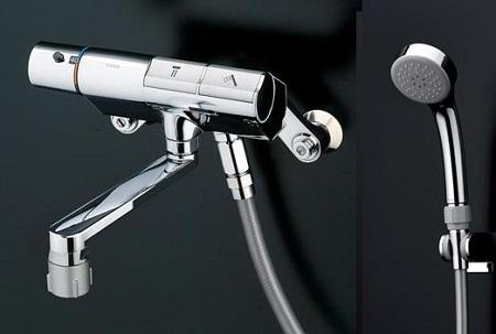 TOTOTTMN40TE3壁付サーモスタット混合水栓タッチスイッチタイプシャワーヘッド:エアインめっきホース:樹脂
