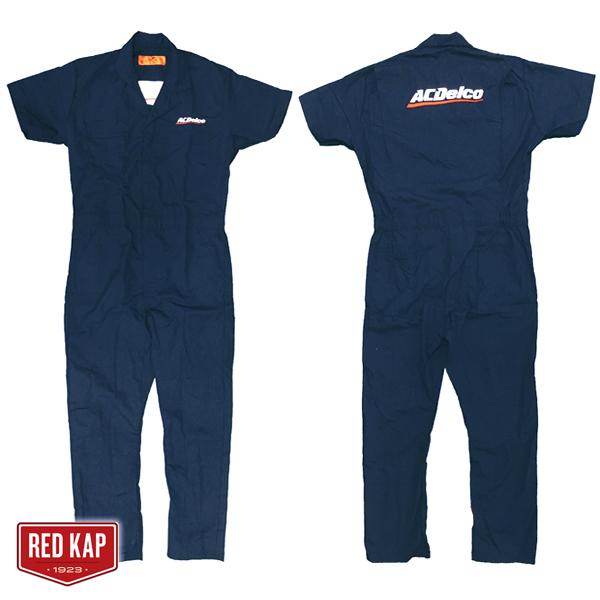 ACDELCO オフィシャルカバーオール(ツナギ) 半袖 ネイビー RED KAP製