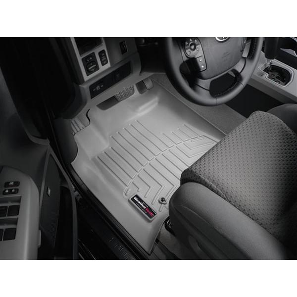 【WeatherTech/ウェザーテック正規輸入元】USトヨタ タンドラ クルーマックス(2007~2011年)左ハンドル車 フロアマット/フロアライナー(フロント&リア)(グレー)