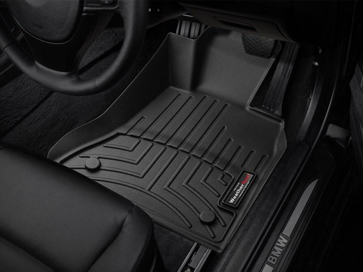 【WeatherTech/ウェザーテック正規輸入元】BMW 5シリーズ F10(セダン)/F11(ツーリング)右ハンドル車 フロアマット/フロアライナー(フロント&リア)(ブラック)