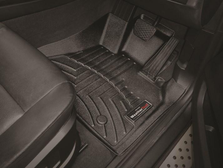 【WeatherTech/ウェザーテック正規輸入元】BMW Xシリーズ E70(X5/X5M) 右ハンドル車用 フロアマット/フロアライナー(フロント&リア)(ブラック)