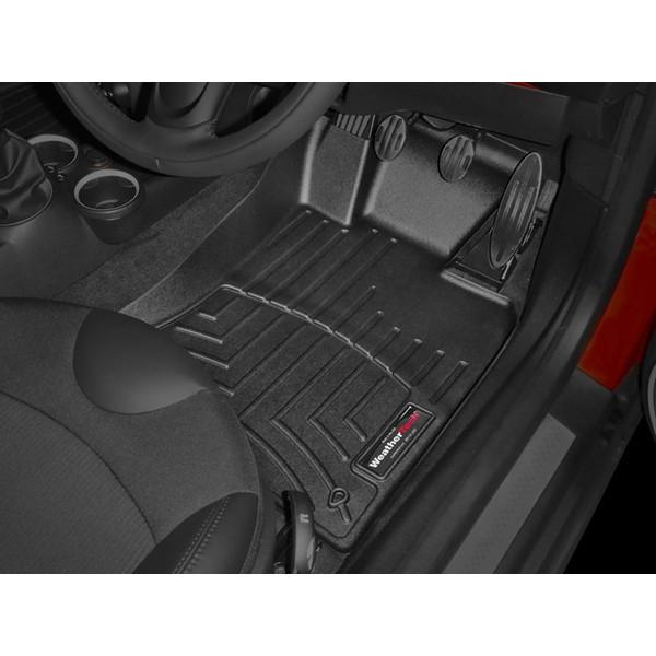 【WeatherTech/ウェザーテック正規輸入元】MINI クーペ R58 右ハンドル車 フロアマット/フロアライナー(フロント&リア)(ブラック)