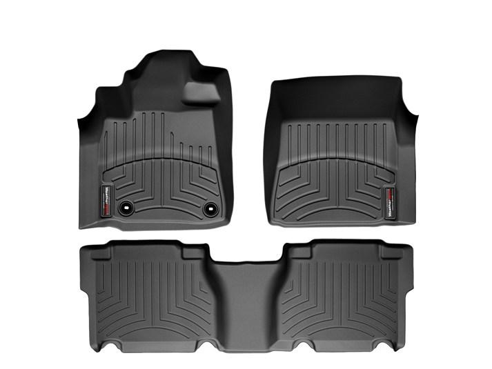 USトヨタ タンドラ クルーマックス(2012~2013年)左ハンドル車 フロアマット/フロアライナー(フロント&リア)(ブラック)