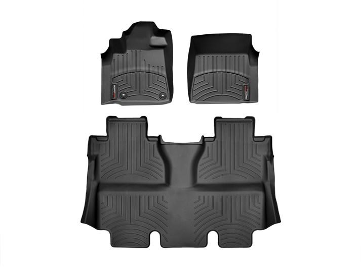 USトヨタ タンドラ クルーマックス(2014~2017年)左ハンドル車 フロアマット/フロアライナー(フロント&リア)(ブラック)