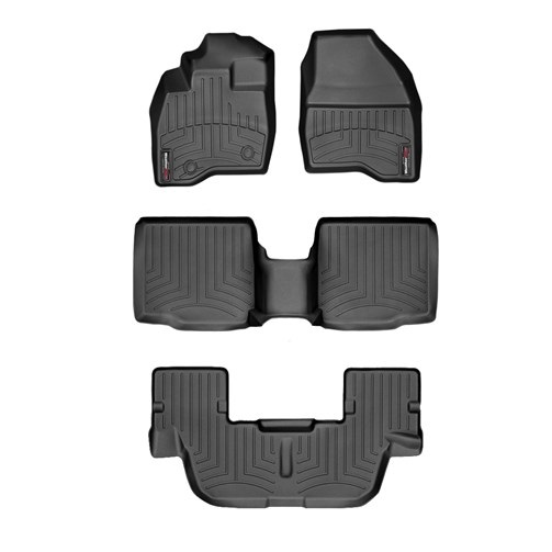 フォード エクスプローラー(2015~2016年)左ハンドル車 フロアマット/フロアライナー(フロント&リア)(ブラック)