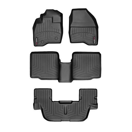 【WeatherTech/ウェザーテック正規輸入元】フォード エクスプローラー(2015~2016年)左ハンドル車 フロアマット/フロアライナー(フロント&リア)(ブラック)