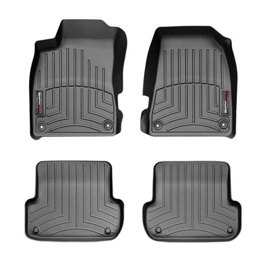 Audi(アウディ) A4/S4/RS4(2002~2008年)左ハンドル車 フロアマット/フロアライナー(フロント&リア)(ブラック)