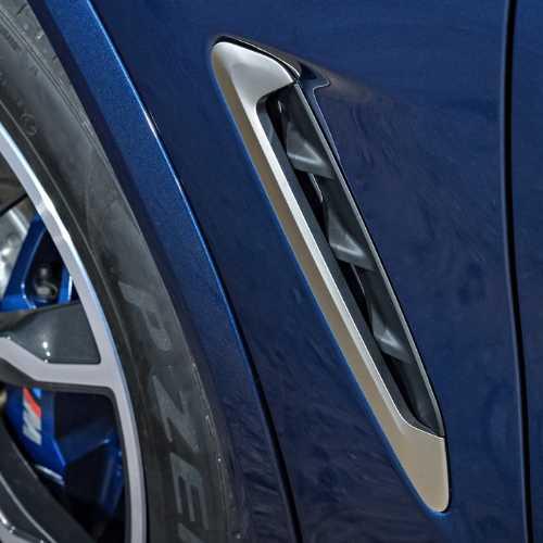 BMW純正 サイド・グリル(セリウム・グレー)(G01 M40d/G02 M40i)
