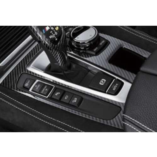 BMW純正 M Performance カーボン・センターコンソール・カバー(左ハンドル車用)(X6 F16/F85 X5M/F86 X6M)