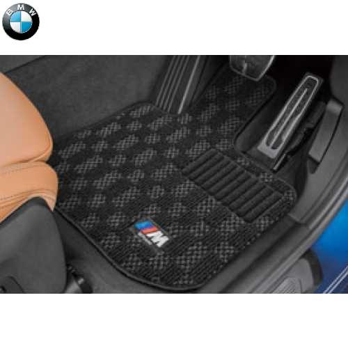 BMW純正 M フロア・マット・セット(ブラック/グレー)(右ハンドル車用)(G02 X4)