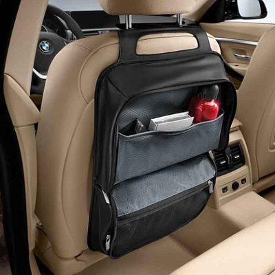 BMW純正 シート・バック・ストレージ・ポケット ブラック(Luxury)