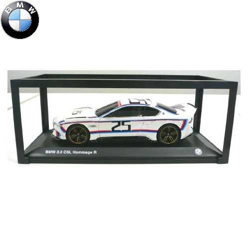 BMW ミニチュアカー3.0 CSL Hommage R(サイズ:1/18)(ホワイト/M カラー)