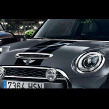 MINI純正 スポーツ・ストライプ・エンジンフード/トランク・セット(F56)(ブラック)