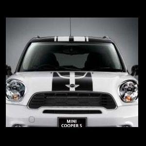 MINI純正 JCW スポーツ・ストライプ・エンジンフード/トランク・セット(ブラック)(R61)
