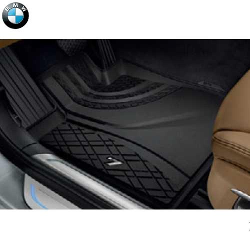 BMW純正 オール・ウェザー・フロアー・マット(ブラック)(フロント)(右ハンドル車用)(G11/G12)