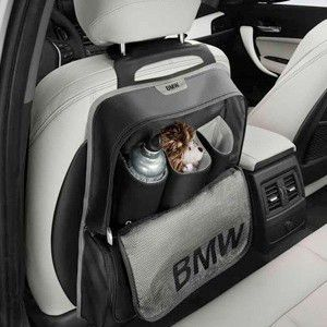 BMW純正 シート・バック・ストレージ・ポケット ブラック/ライト・グレー(Style)