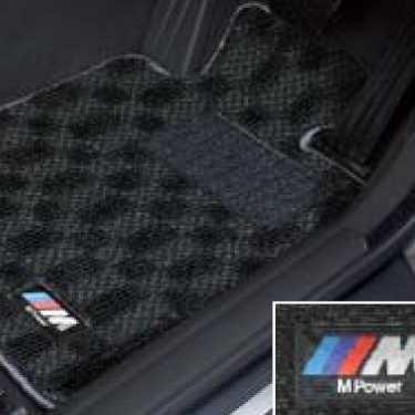 BMW純正 M フロア・マット・セット(ブラック/グレー)(右ハンドル車用)(F10/F11(~2013.07))
