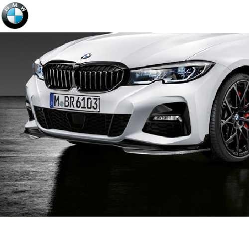 BMW純正 M Performance エアロダイナミック・パッケージ フロント・スポイラー(ハイグロス・ブラック)(G20)