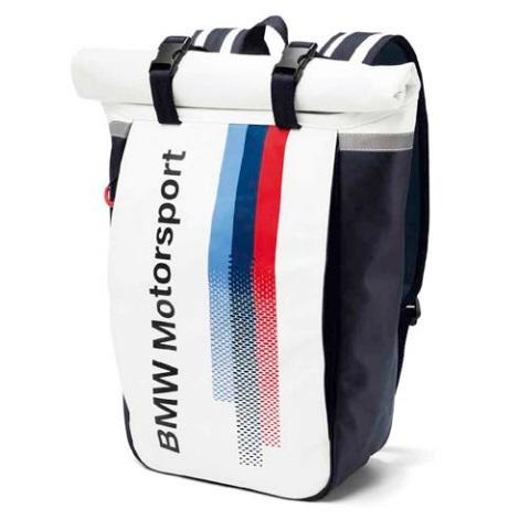 BMW純正 MOTORSPORT COLLECTION バック・パック(ホワイト/ チーム・ブルー)