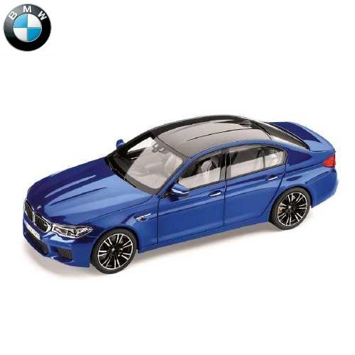 BMW ミニチュアカー M5 F90 (マリナ ベイ ブルー)(サイズ:1/18)