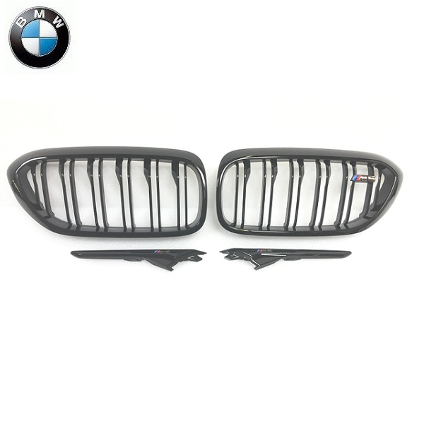BMW純正 ブラック キドニー グリル&ブラック サイド ギル セット(F90 M5)