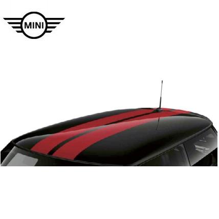 MINI純正 スポーツ・ストライプ ルーフ・セット(F55)(チリ・レッド)
