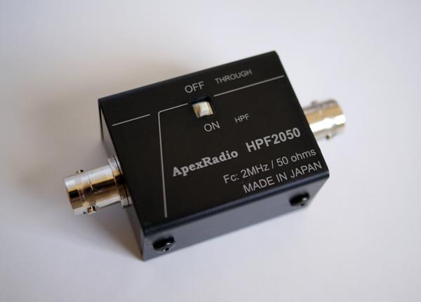 ApexRadio HPF2050短波受信用ハイパスフィルタ (HPF-2050) HF BCL 中波オバケ対策