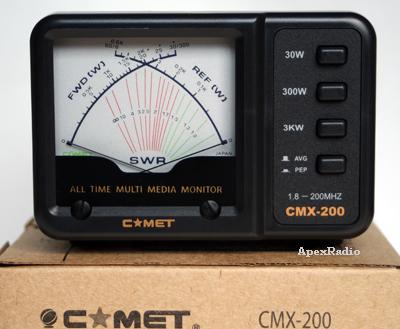 パワーメーター(SWR計) コメット CMX-200  1.8~200MHz (CMX200)(COMET) アマチュア無線