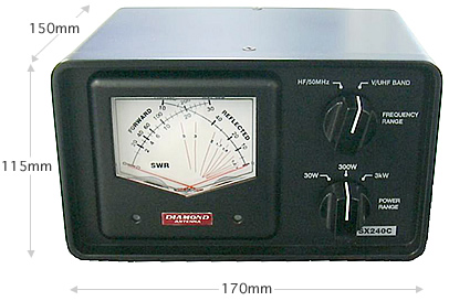 SWRパワー計 (交差形電力計) クロス 第一電波工業 SX240C (SX-240C)(DIAMOND) 【1.8-54MHz、140-470MHz 2センサー内蔵】 アマチュア無線