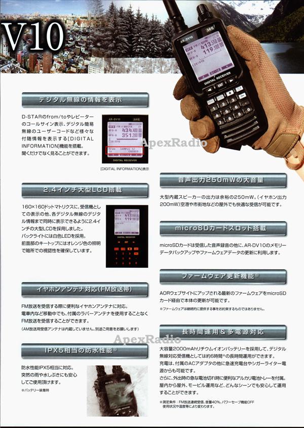 AOR AR-DV10 digital handy receiver high efficiency antenna BNC-24 set  broadband receiver aviation radio amateur radio communications (100kHz -