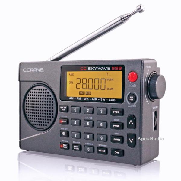 短波 AM 定番から日本未入荷 FM 航空無線 SSB 電池駆動 BCLラジオ DSP CC Skywave お値打ち価格で ラジオ 日本語操作ガイド付 ポータブル受信機 VHF航空無線 BCL 操作ガイド付